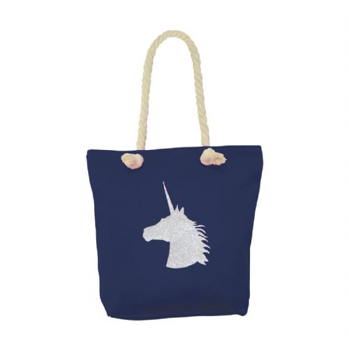 HyFASHION Unicorn Tote Bag in Navy